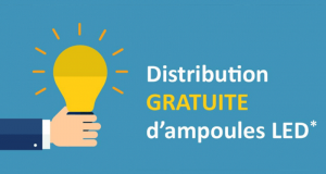Distribution gratuite d'ampoules LED