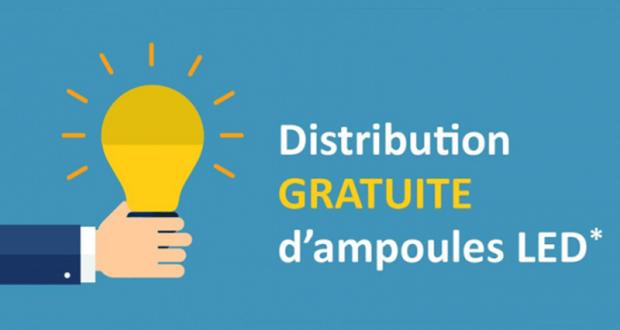 Distribution gratuite d'ampoules LED