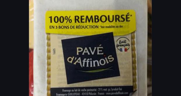 Fromage Pavé d'Affinois 100% Remboursé en 3 Bons
