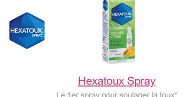 Hexatoux Spray 30Ml 100% remboursé