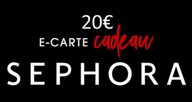 10 e-carte cadeau Sephora de 20€ offertes