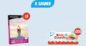 100 paquets de Kinder Country offerts