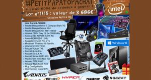 15 lots de matériel informatique offerts (Valeur unitaire 4183 euros)