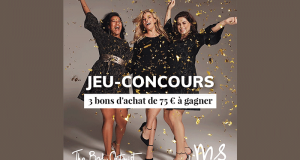 3 bons d'achat MS Mode de 75 euros offerts