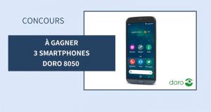 3 smartphones Doro 8050 offerts