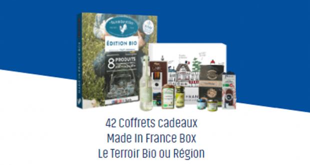 42 Coffret cadeau Made In France Box Le Terroir Bio ou Région offerts