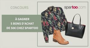 5 bons d'achat Spartoo de 50 euros offerts