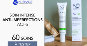 60 Soin Intense Anti-Imperfections ACT-5 Nubiance à tester