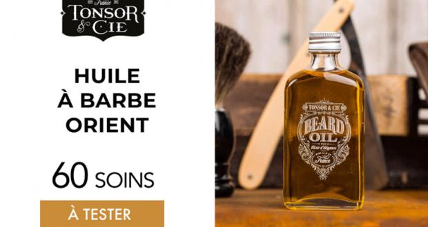 60 huile à barbe orient de tonsor & cie à tester