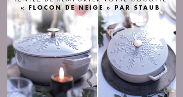 8 cocottes Flocon de neige par STAUB offertes