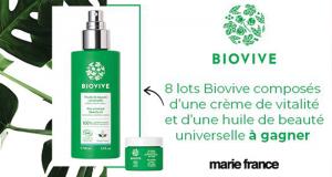 8 lots de 2 produits de soins Biovive offerts