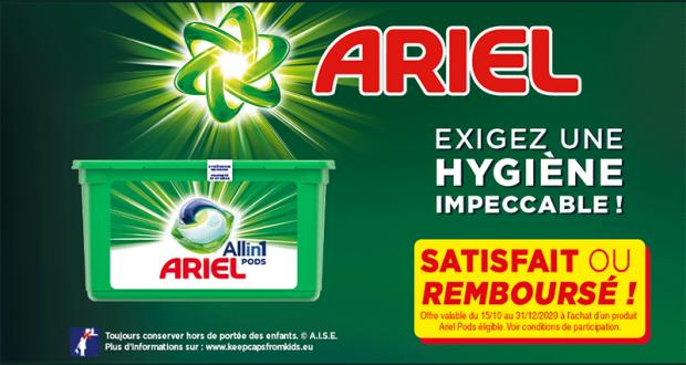 Lessive All-in-1 Pods Ariel 100% Remboursé