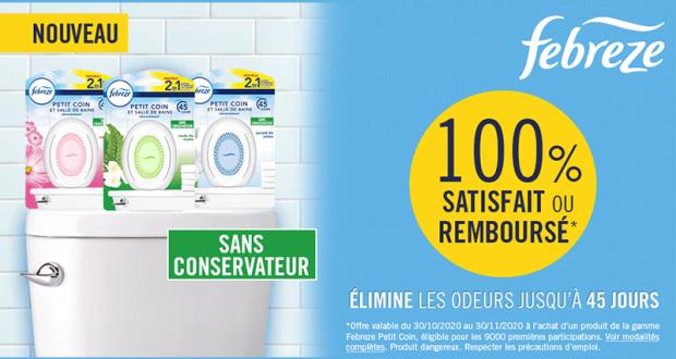 Petit Coin de Salle de bains Febreze 100% Remboursé