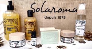 Un lot de 9 produits soins bio Solaroma offert