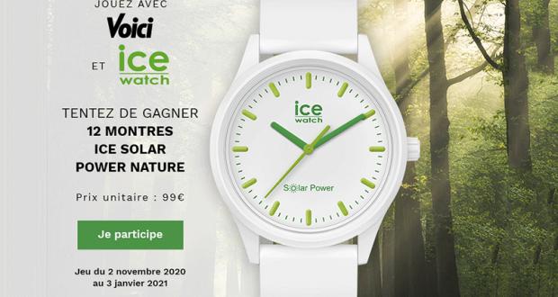 Voici 12 montres Ice Watch offertes