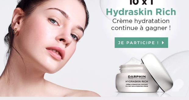 10 soins Hydraskin Rich crème hydratation continue offerts