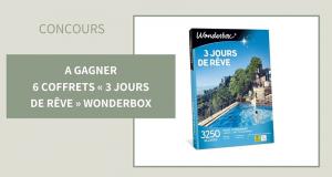 6 coffrets Wonderbox 3 jours de rêve offerts