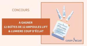 12 boîtes de soins anti-âge Coup D'éclat offertes