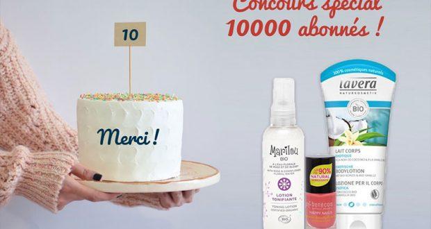 10 lots de 3 produits de soins offerts