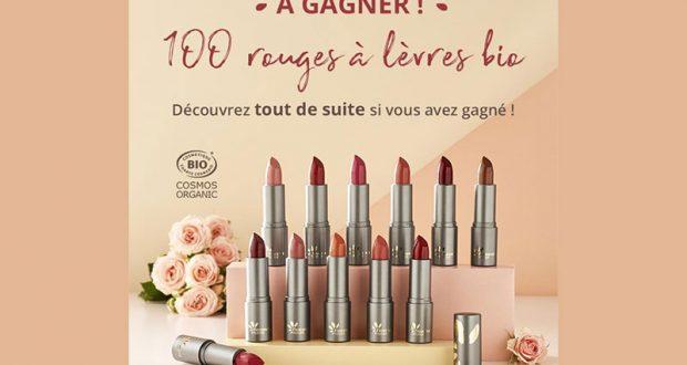 100 rouges à lèvres BIO Fleurance Nature offerts