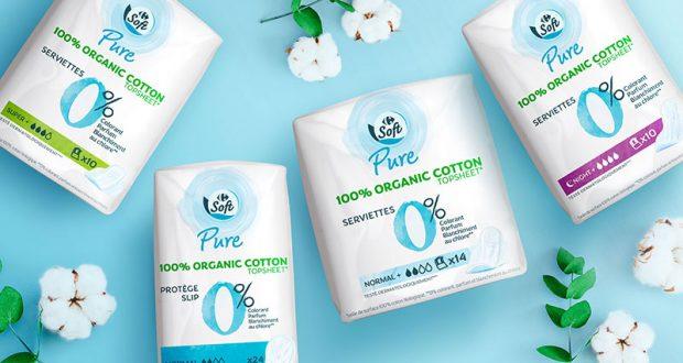12000 packs de serviettes Carrefour Soft Pure à tester