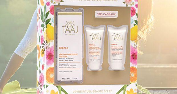 14 coffrets de produits de soins TAAJ offerts