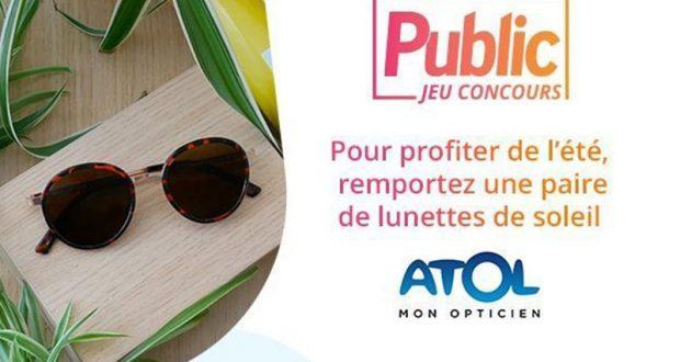 21 paires de lunettes de soleil Atol offertes