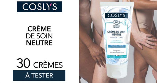 30 crèmes de soin neutre de Coslys à tester