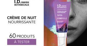 60 crèmes de nuit nourrissante I.D Swiss Botanicals à tester
