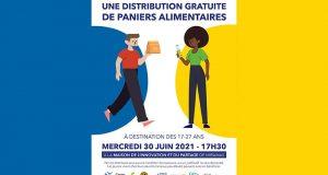 Distribution gratuite de paniers alimentaires