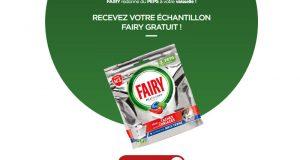 Échantillons gratuits de capsules lave-vaisselle Fairy