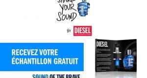 Échantillons gratuits du nouveau parfum Sound Of The Brave de Diesel