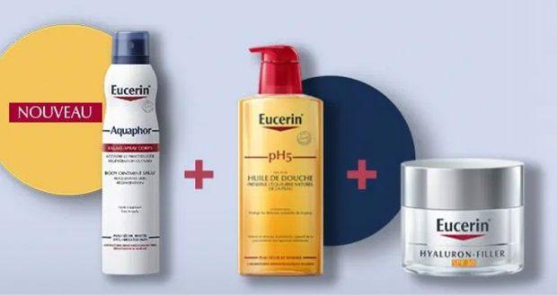 10 lots de 3 produits de soins Eucerin offerts