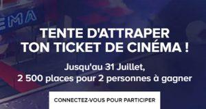 2500 lots de 2 places de cinéma offerts