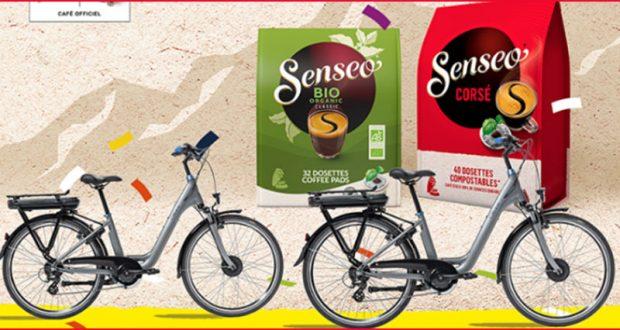 En jeu 4 vélos électriques de 1299 € et 50 coffrets café SENSEO