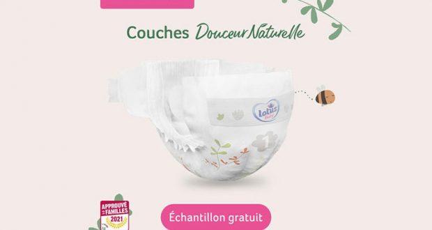 Échantillons gratuits de Couches Douceur Naturelle Lotus Baby