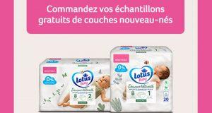 Échantillons gratuits des couches nouveau-nés Lotus Baby