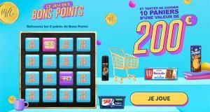 10 paniers de courses offerts (valeur unitaire 200 euros)