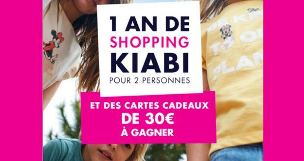 20 cartes cadeau Kiabi offertes