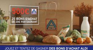 25 bons d'achat ALDI de 20 euros offerts