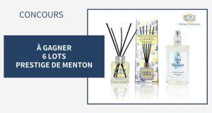 6 lots de parfums Prestige de Menton offerts