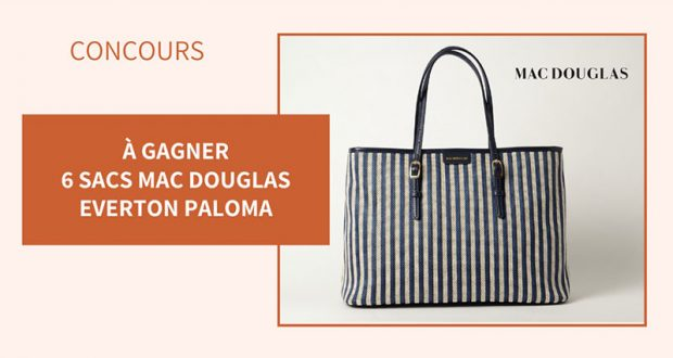 6 sacs à main Mac Douglas Everton Paloma offerts