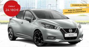 Une Voiture Nissan Micra 2021 offerte