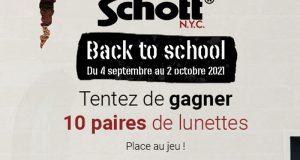 10 paires de lunettes pour adolescents Schott offertes