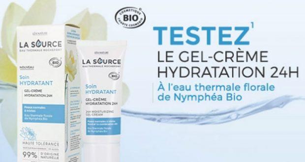 100 Gel-crème hydratation 24h LA SOURCE à tester