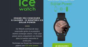 12 montres Solar Power Ice Watch offertes
