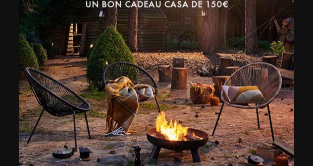 13 cartes cadeaux CASA de 150 euros offertes
