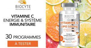 30 Vitamine C Lipo à Croquer de Biocyte à tester