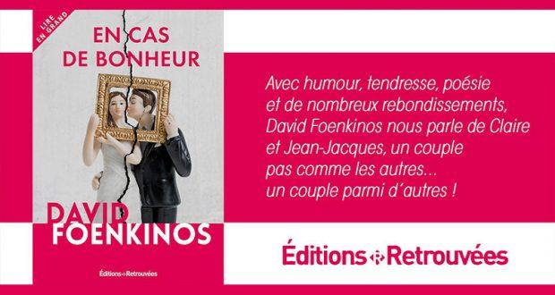 20 romans En cas de bonheur de Davis Foenkinos offerts