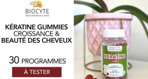 30 Kératine Gummies de Biocyte à tester